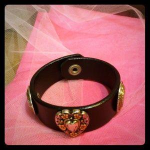 A leather handmade bracelet